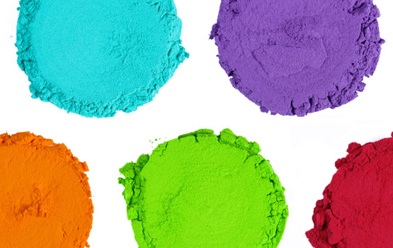 A pigment is a dry powder material that is used to impart colour in a variety of applications